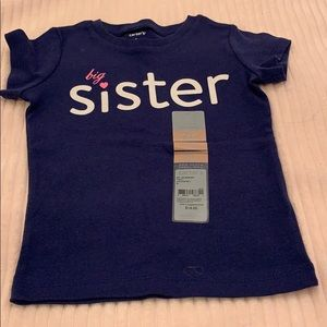 Carter's big sister toddler tee